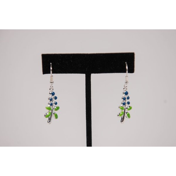 Austin & Texas Bluebonnet Earrings Enamel