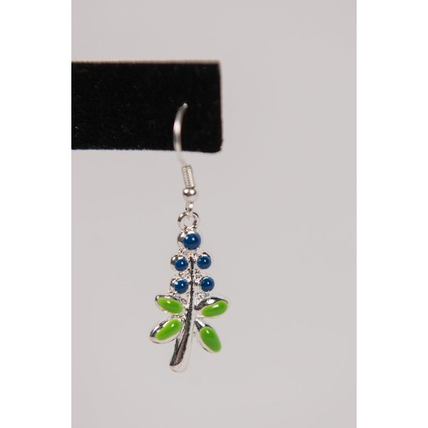 Austin & Texas BLUEBONNET EARRINGS ENAMEL