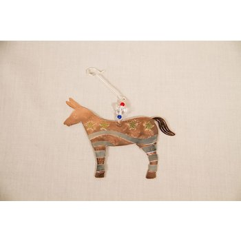 Holiday FAIR TRADE DONKEY ORNAMENT