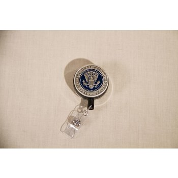 Americana Pewter Detail Presidential Seal Badge Reel