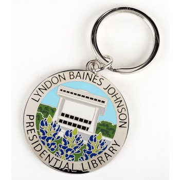 All the Way with LBJ LBJ LIBRARY BLUEBONNET KEYCHAIN