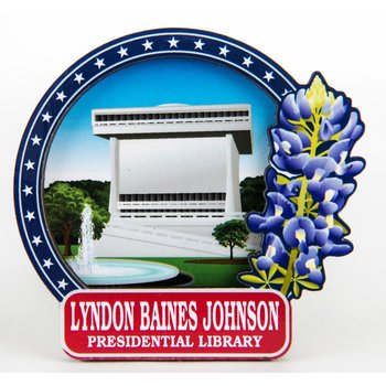 LBJ Library with Bluebonnet Magnet