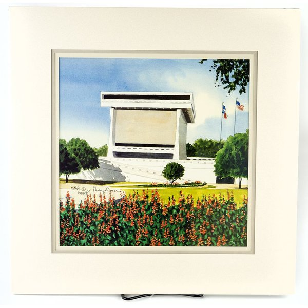 All the Way with LBJ LBJ Library Watercolor Print by Mary Doerr