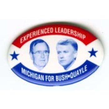 GHW BUSH EXPERIENCED LEADERSHIP OVAL