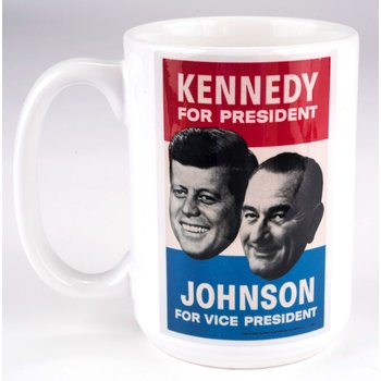 All the way with LBJ KENNEDY JOHNSON CAMPAIGN POSTER MUG