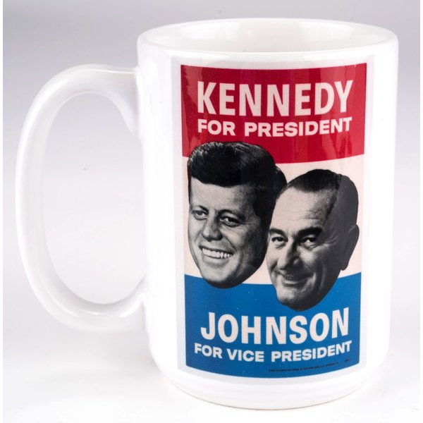 All the way with LBJ KENNEDY JOHNSON 1960 CAMPAIGN POSTER MUG