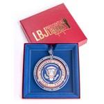 Holiday LBJ Presidential Seal Brass Ornament
