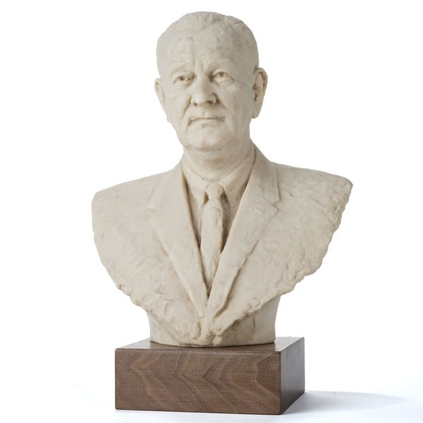 """All the Way with LBJ 12.5"""" Marble LBJ Bust"""