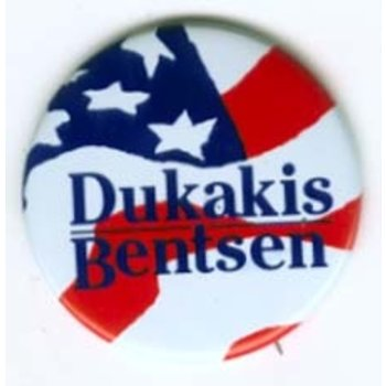 Large Dukakis Bentsen Stars & Stripes
