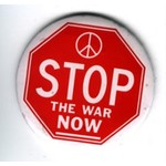 STOP THE WAR NOW- original anti vietnam button