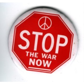 Stop The War Now - Original Anti-vietnam Button