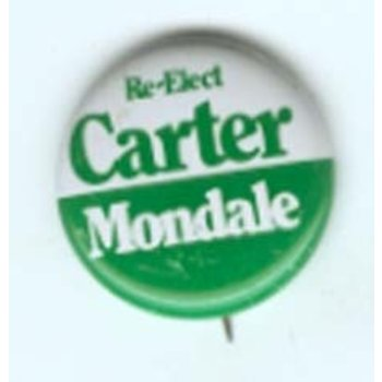 1980 RE-ELECT CARTER MONDALE CAMPAIGN BUTTON