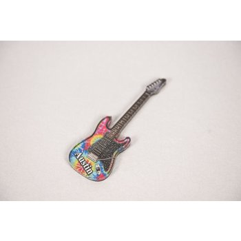 "Texas Traditions TIE DYE GUITAR ""AUSTIN"" MAGNET"