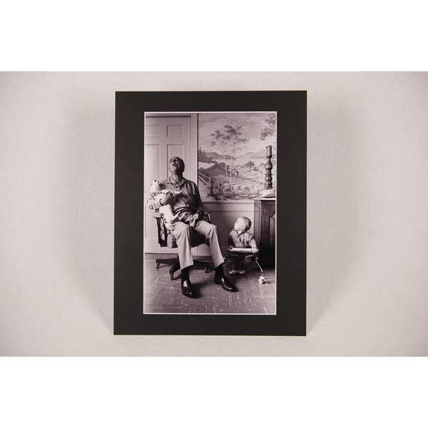 11x14 MATTED PHOTO LBJ SINGS WITH YUKI