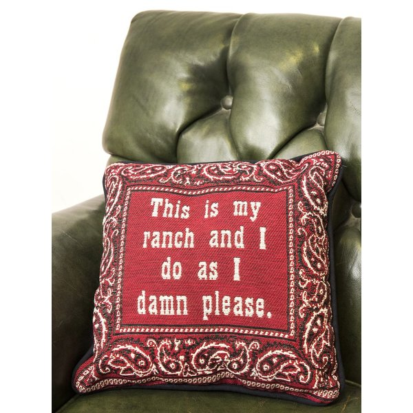 "All the way with LBJ RANCH PILLOW 12"" CUSTOM"