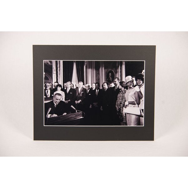Civil Rights Voting Rights Act 11x14 Matted Photo