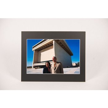 Sale sale-11x14 MATTED PHOTO LBJ/LADY BIRD AT LIBRARY