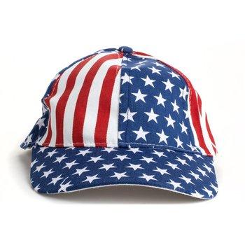 Patriotic USA FLAG BASEBALL CAP