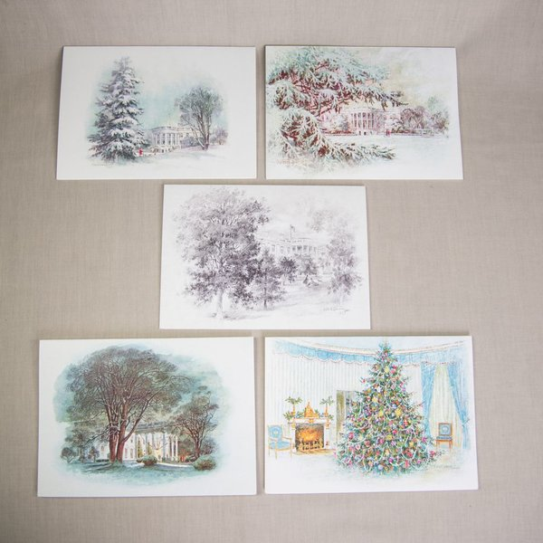 REPRODUCTION CHRISTMAS NOTECARDS LBJ SET/5