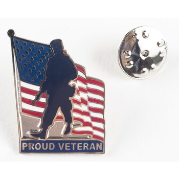 Americana Proud Veteran Lapel Tac Pin