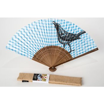 Wildflower HAND FAN W/CASE