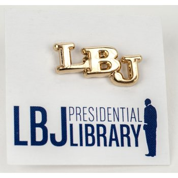 All the Way with LBJ Replica Brass LBJ Initial Pin