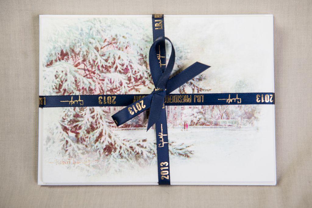 Christmas Notecards.Reproduction Christmas Notecards Lbj Set 5