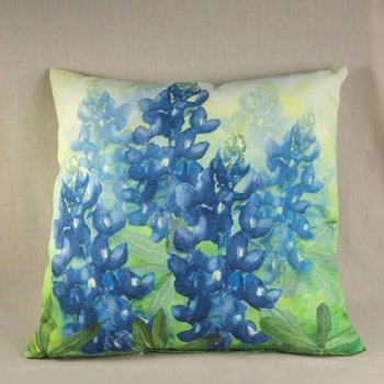 BLUEBONNET PILLOW SQ IN/OUT