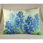 Bluebonnet Pillow - Rectangular