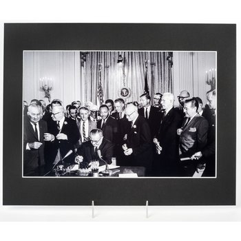 Signing of the Civil Rights Act 11x14 Matted Photo