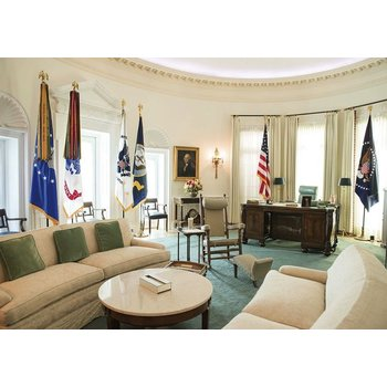 All the Way with LBJ LBJ Library Oval Office Replica Postcard