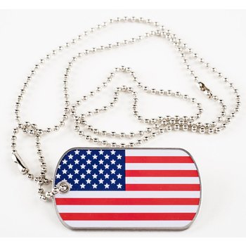 Sale sale-US FLAG DOG TAG