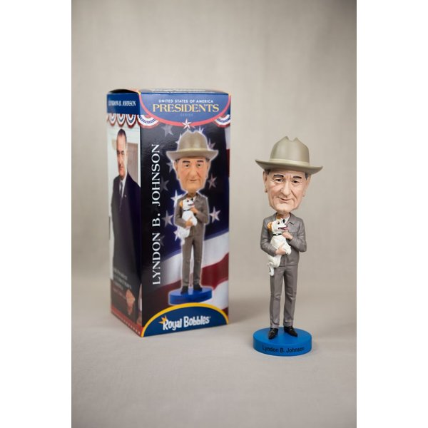 All the way with LBJ LYNDON B. JOHNSON BOBBLEHEAD