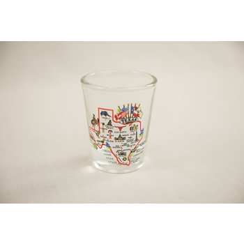 Austin & Texas Texas Map Shot Glass
