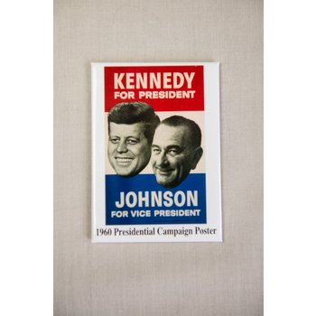 All the Way with LBJ JFK/LBJ 1960 Campaign Magnet