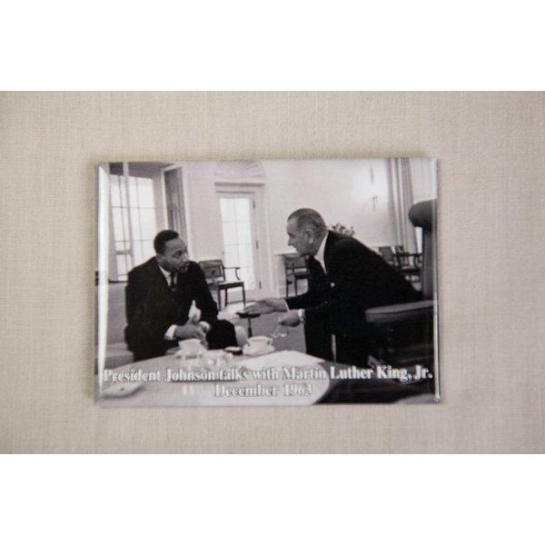Civil Rights LBJ MEETS W/ MLK MAGNET