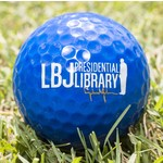 All the way with LBJ LBJ PRESIDENTIAL LIBRARY BLUE GOLF BALL