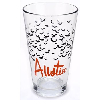 Texas Traditions AUSTIN BATS PINT GLASS