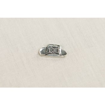 PEWTER LBJ HAT POCKET CHARM
