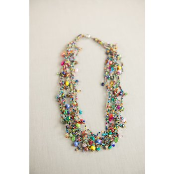 """Colorful 24"""" Guatemalan Necklace"""