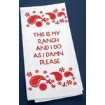 Austin & Texas Ranch Tea Towel - Red