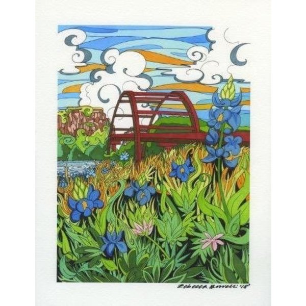 Texas Traditions Pennybacker Bridge 8x10 Print by Becca Borrelli