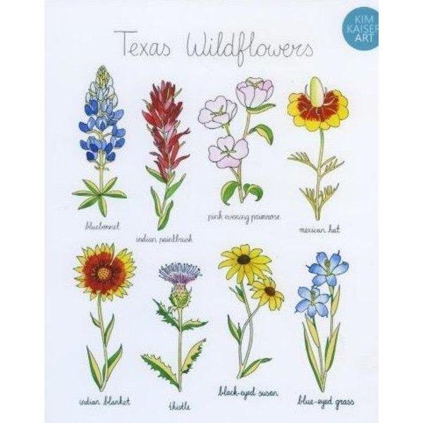 Texas Traditions Texas Wildflowers 8x10 print by Kim Kaiser