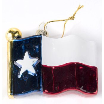 Texas Traditions TEXAS SHAPED GLASS ORNAMENT