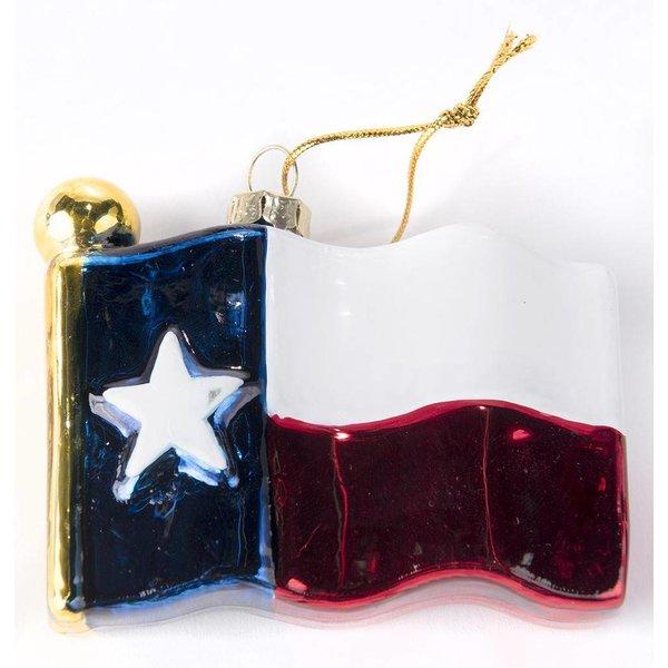Texas Traditions TEXAS SHAPED GLASS ORNAMENT