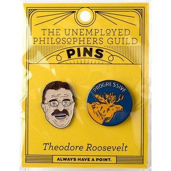 sale-THEODORE ROOSELVELT ENAMEL PIN S/2