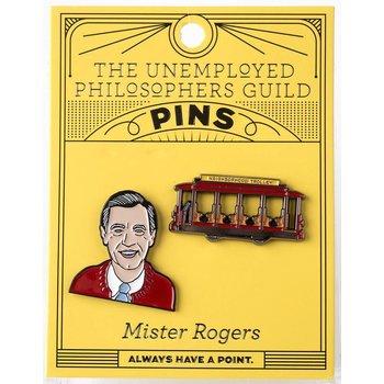 sale-MISTER ROGERS ENAMEL PINS S/2