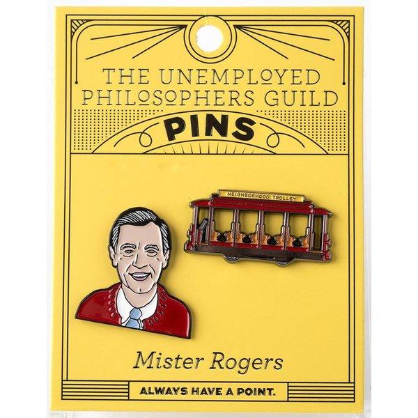 MISTER ROGERS ENAMEL PINS S/2