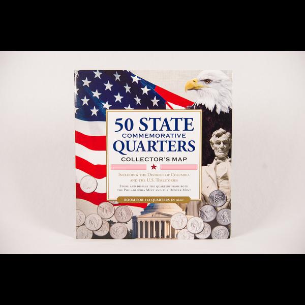 Patriotic QUARTERS OF UNITED STATES  COLLECTION FOLDER