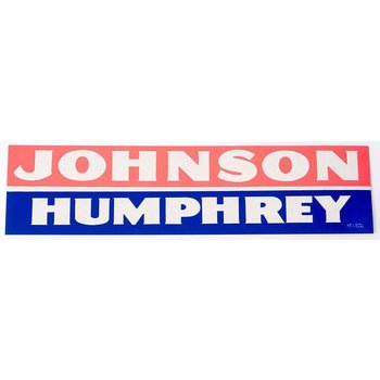 All the way with LBJ JOHNSON HUMPHREY BUMPER STICKER
